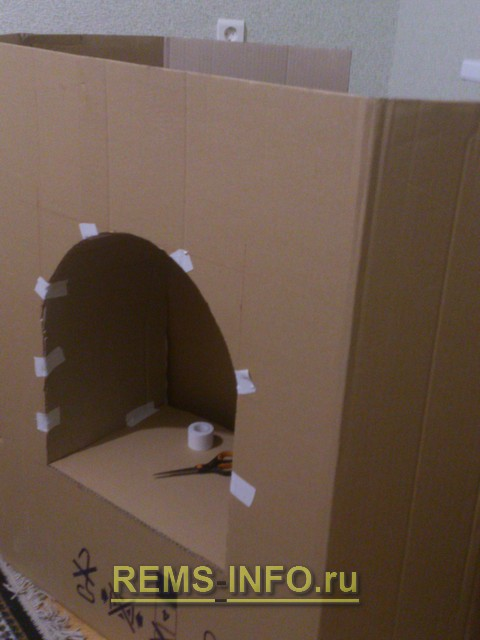 Камин из картона своими руками - мастер класс с фото, фальш-камин