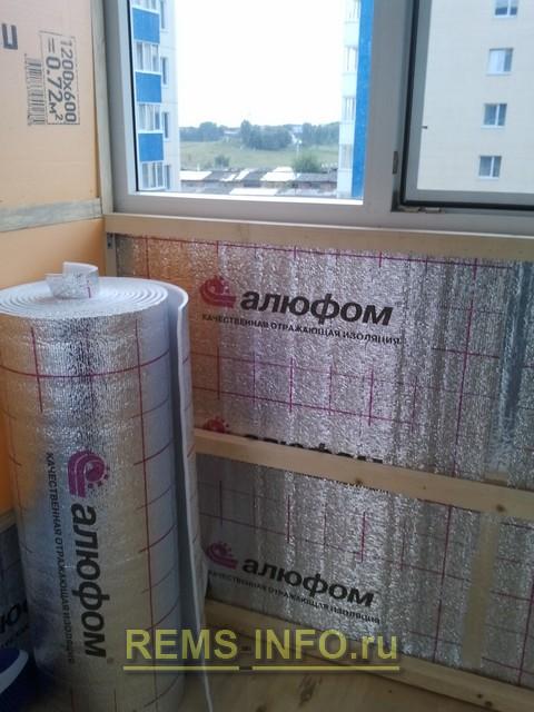 Пеноплэкс и пенофола для утепления балкона..