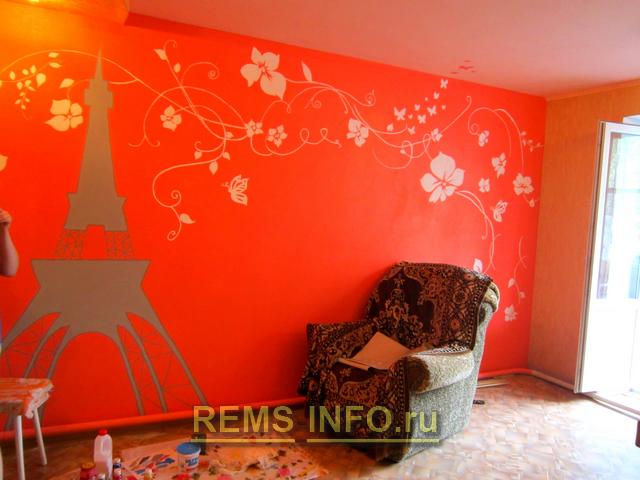 Роспись стен в интерьере детской: 50 фото и мастер-класс
